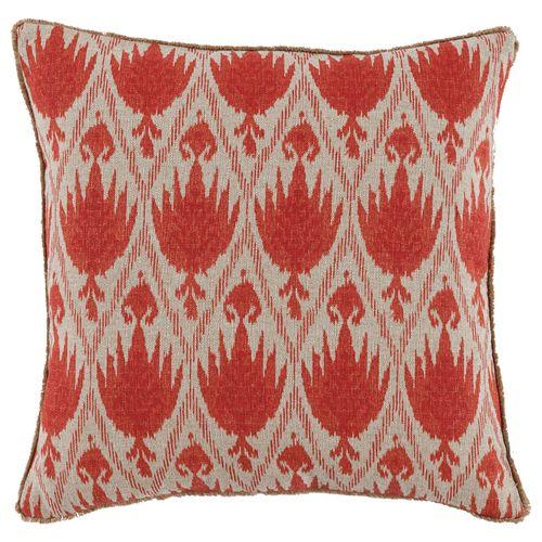 Lacefield Casablanca Geranium Throw Pillow