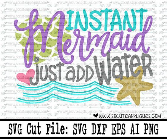 vacation svg Mermaid birthday svg file starfish svg girls summer svg beach svg cruise svg Instant mermaid SVG file socuteappliques
