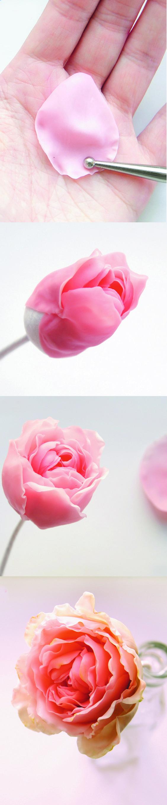 DIY Rose of polymer clay. #PhoenixPublishingHouse #handmade #polymerclay
