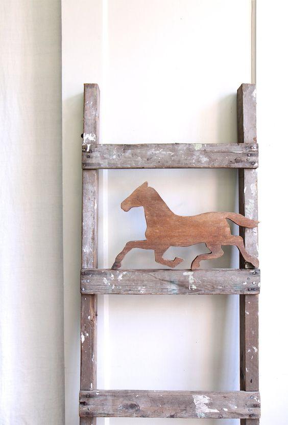 Vintage Rustic Industrial Ladder.