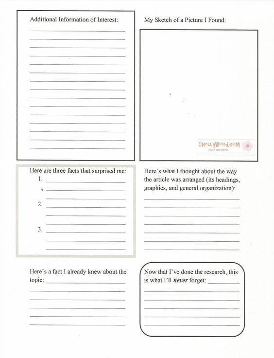 WorldBook Research Worksheet for Middle Schoolers Pg 2 comes from ...