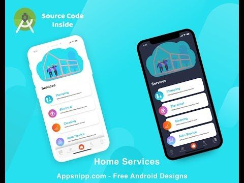 Free Android Studio Ready Source Code For Services App Can Be Used For Lsiting Apps Home Services Directory Android Service Android Design Mobile App Design