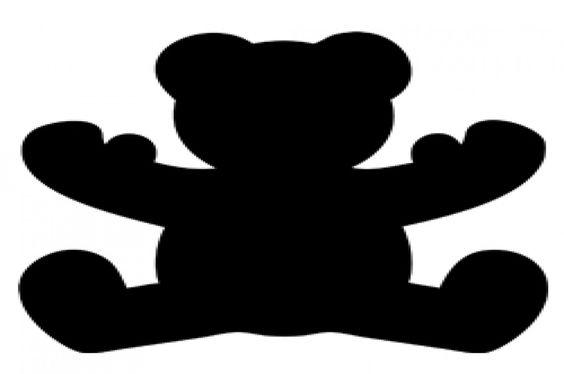 Teddybär einfarbig, Schneidedatei, kostenlos