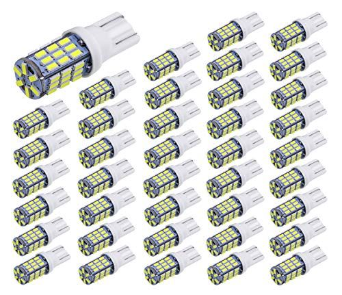 Aucan 40pcs Super Bright Rv Trailer T10 921 194 42 Smd 12v Car Backup Reverse Led Lights Bulbs Light Width Lamp Xenon White Led Light Bulb Led Lights Bulb