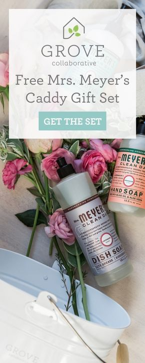 Free Mrs. Meyer's caddy set ($30 value) with your first order. Grove Collaborative delivers the best natural, non-toxic products right to your door. Try Grove today!