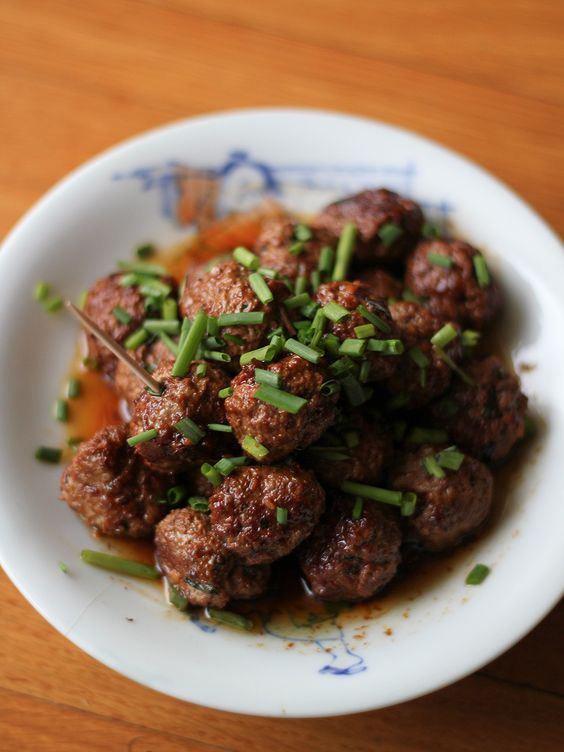 "Slightly Sriracha'd Lamb Mini Meatballs — #recipe by ""From Away"""