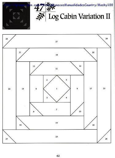 Log Cabin Variation 2 Reglas patchwork Pinterest Cabin, Logs and Paper
