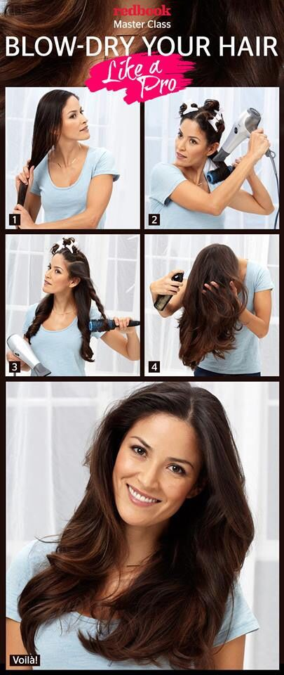 Blowdrying hair like a pro