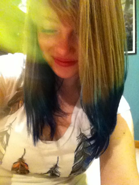Blue Ombre Hair <3 I love my new look!
