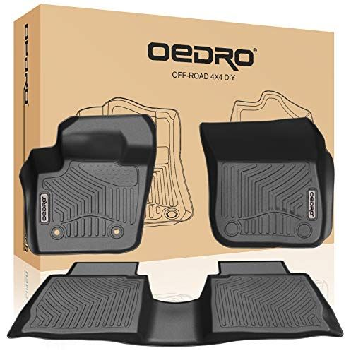 Oedro Floor Mats Compatible For 2013 2016 Ford Fusion Energi Titanium Lincoln Mkz Unique Black Tpe All Weather Guard Includes 1st And 2nd Row Front Rear Ful Ford Fusion Ford Fusion Energi Lincoln Mkz