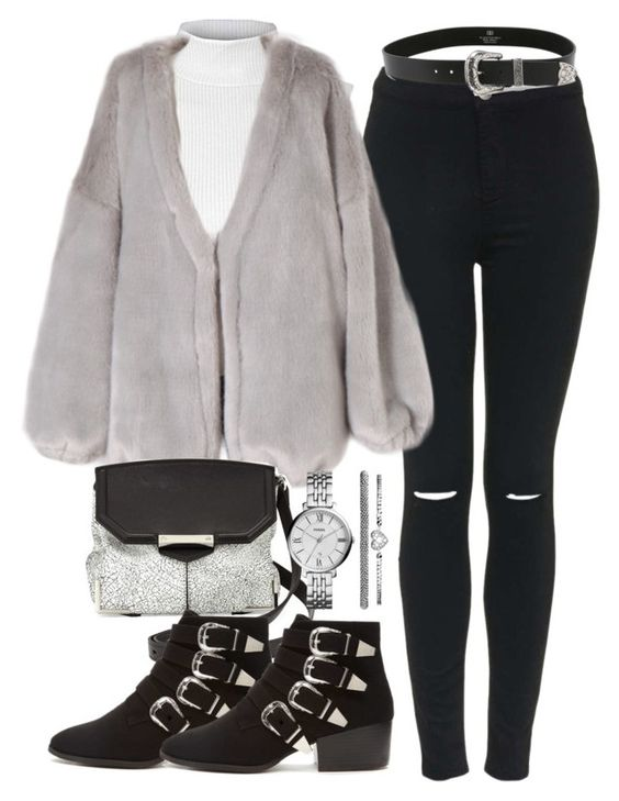 """""""Untitled #3611"""" by beel94 ❤ liked on Polyvore featuring Topshop, Glamorous, Alexander Wang, Forever 21, B-Low the Belt, FOSSIL, women's clothing, women's fashion, women and female"""