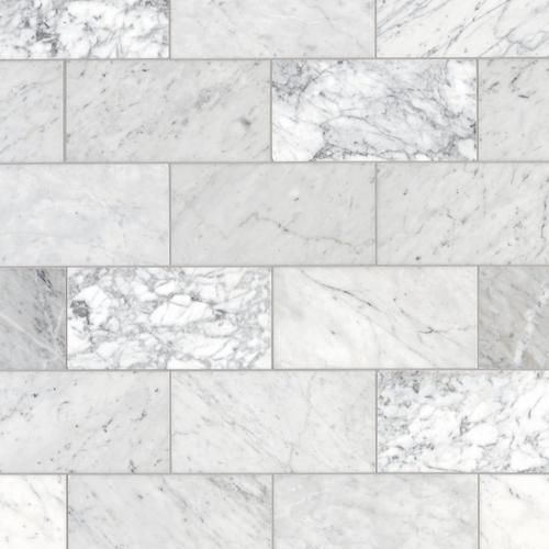 Bianco Carrara Marble Tile 6 X 12 100084961 Floor And Decor Carrara Marble Tile Marble Bathroom Carrara Marble
