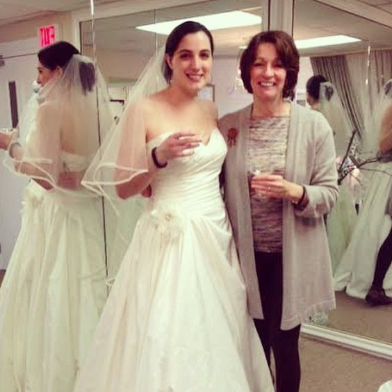 Cheers!  #bride Karen and Mom #wedding #engaged #weddinggown