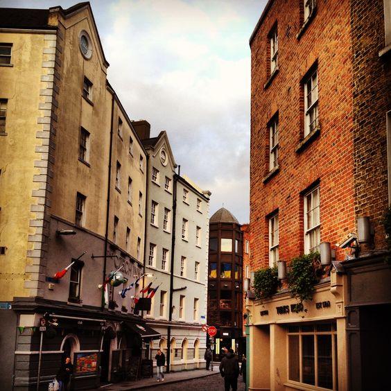 The narrow streets of Temple Bar in Dublin. Beautiful city, wonderful people!