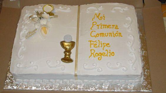pasteles de primera comunion la esperanza
