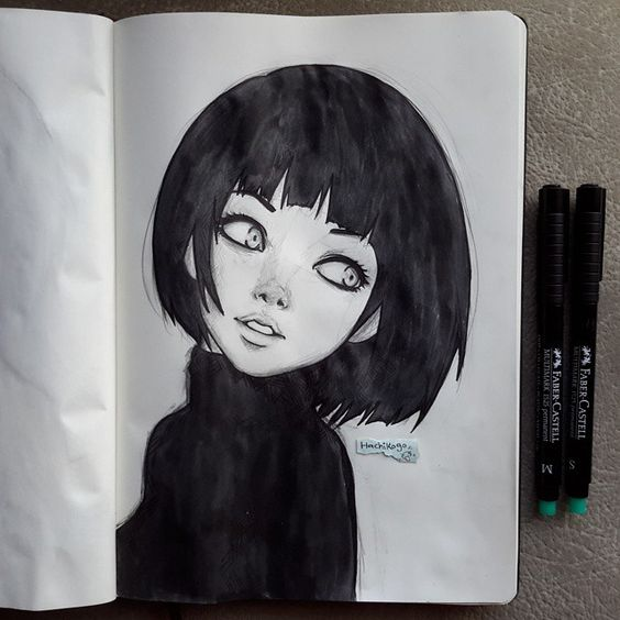 Short Hair Girl Drawing Tumblr
