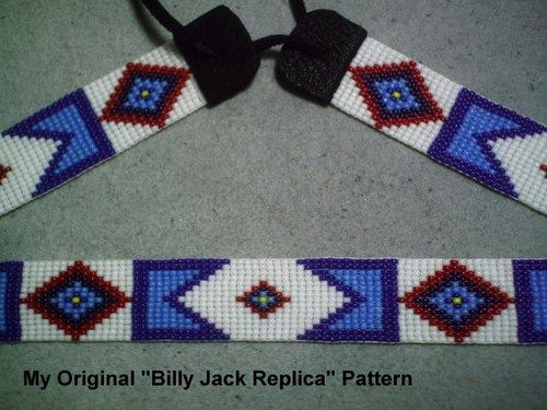 Billy Jack Hat Band Replica of Original Billy Jack Beaded Hatband: