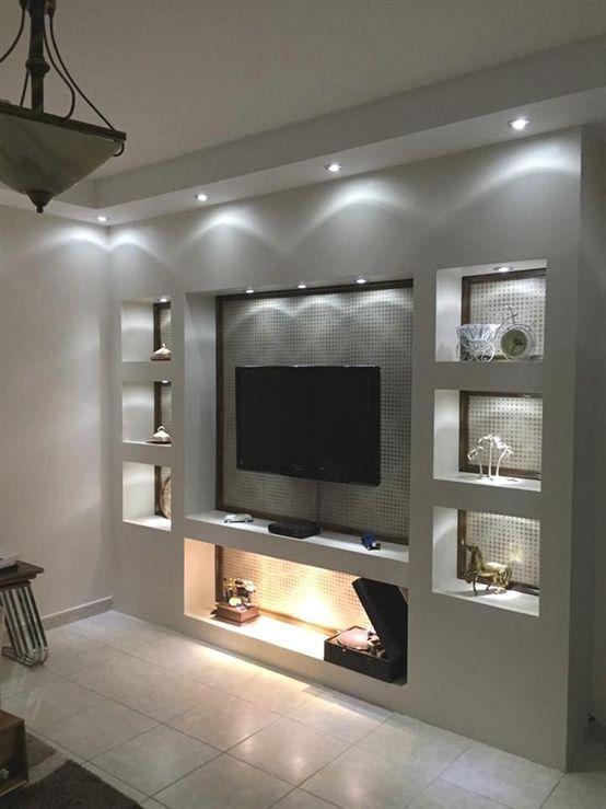 Storage Wall With Tv With Wohnwand Modern Living Room Lighting Living Room Design Modern Modern Tv Wall Units