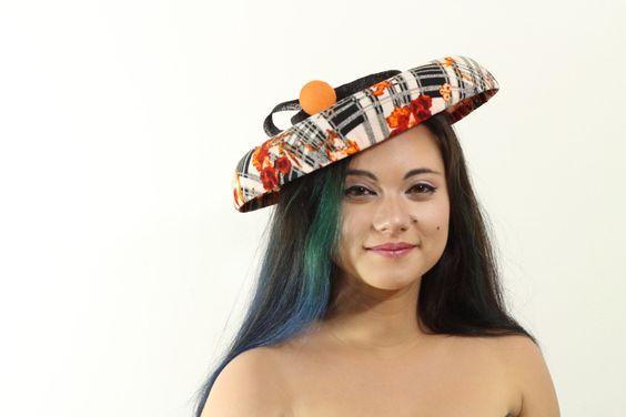 Blood Orange Derby Tilt Hat by MissVictoriaRegina on Etsy