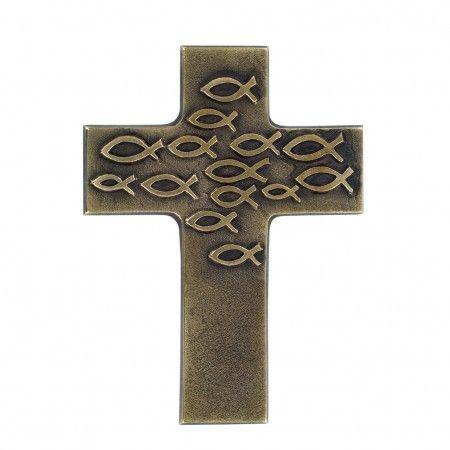 Bronzekreuz: Gottes Segen zur Taufe, Taufkreuz 11 cm 86781