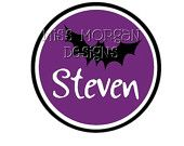 Personalized  Halloween Mickey Mouse iron on decal vinyl for shirt.