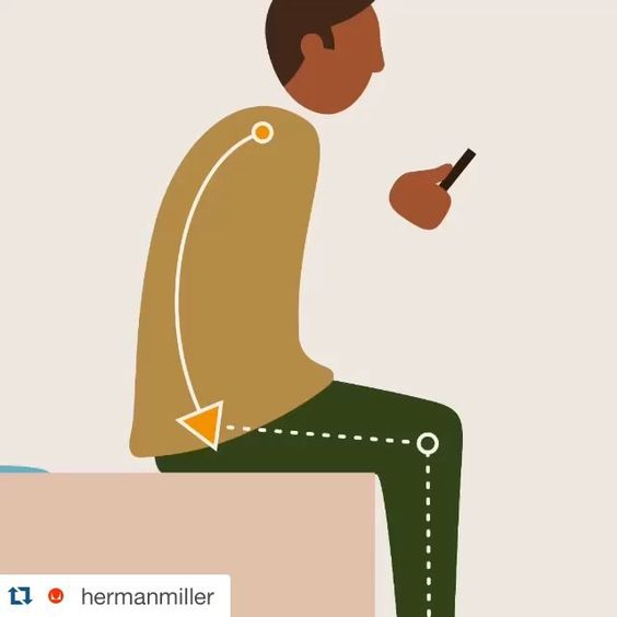 In a slump? When you sit gravity works against you, pulling on your upper body, causing you to slump. Herman Miller's PostureFit technology empowers your body by supporting its most healthful posture. #NeverSittingStill ・・・ #Repost @hermanmiller with @repostapp.