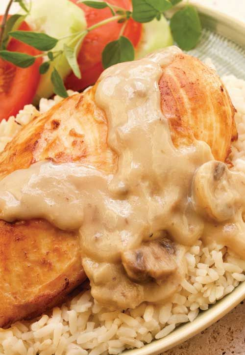 for Creamy Slow Cooker Chicken - Spoon this rich and creamy chicken ...