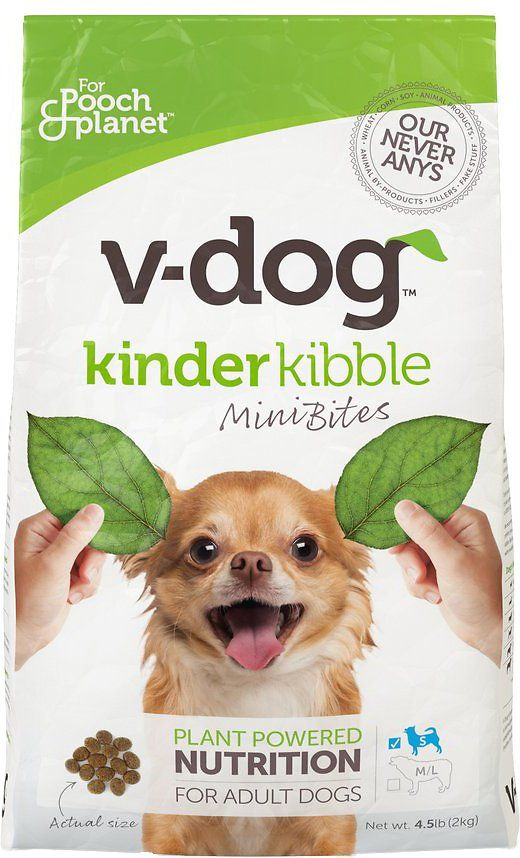 V Dog Kinder Kibble Mini Bites Vegan Adult Dry Dog Food 4 5 Lb