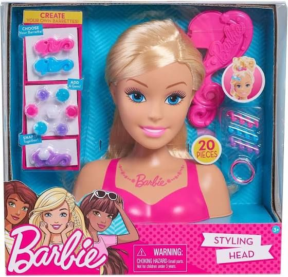 Barbie Glam Party Blonde Styling Head 20 Piece Set Girls Order Barbie Head One Size Barbie Styling Head Barbie Gifts Barbie