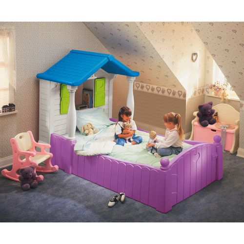 Little Tikes Storybook Cottage Twin Bed, Purple: Toddler ...