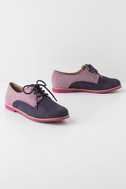 I never thought I could love flats this much... Tweed-Topped Oxfords #anthropologie