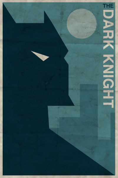 Vintage superhero posters  #