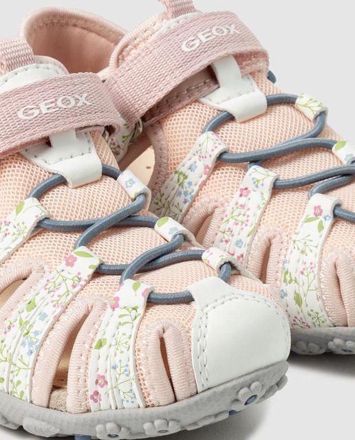 Geox Sandalias De Niña Geox De Color Blanco Con Estampado De Flores En 2020 Casual Outfit Moda Para Damas Moda Hippie