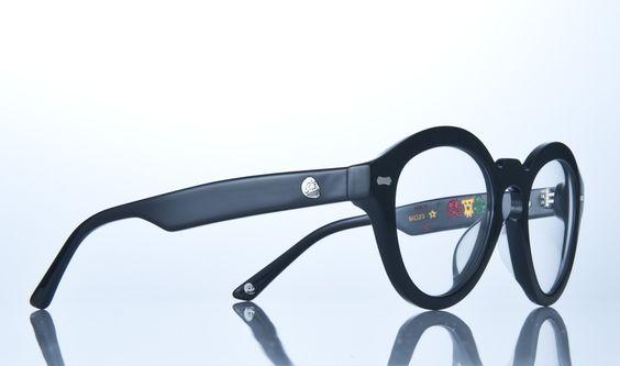 #eyewear #eyeglasses human skull rowan sheen black glasses