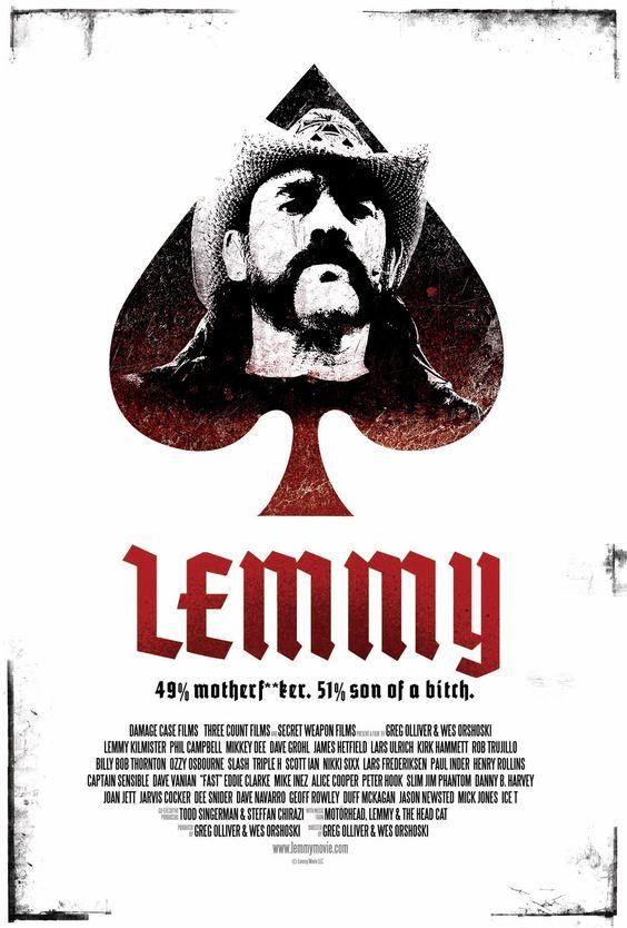 Lemmy.  A documentary on the life and career of revered heavy-metal musician Lemmy Kilmister.