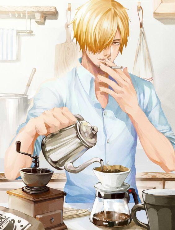 コーヒーを入れているサンジ