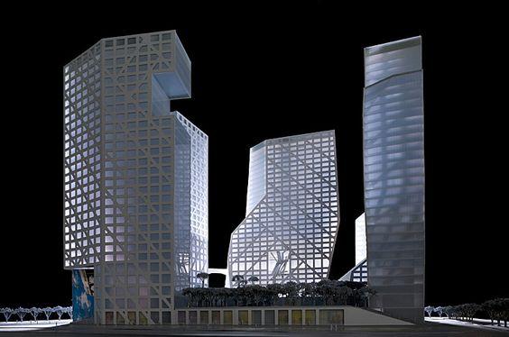 Sliced Porosity Block, Chengdu, China, by Steven Holl Architects.