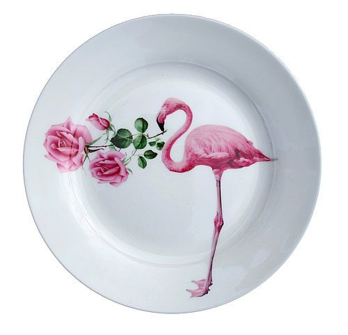 Flamingos and roses... couldn't be more perfect!