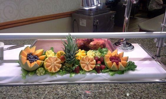 Fruit Carvings on Display
