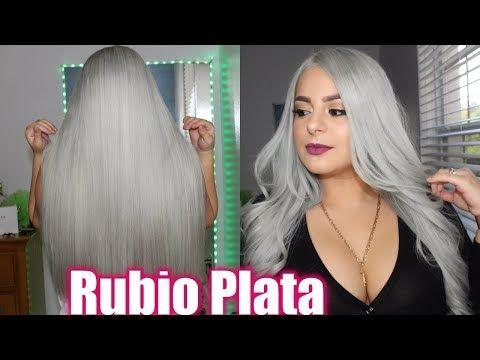 Como Tener El Cabello Blanco 2 Formas De Matizar El Pelo Blanco Decolorado O Rubio Youtube Cabello Rubio Matizador De Cabello Decoloración De Cabello