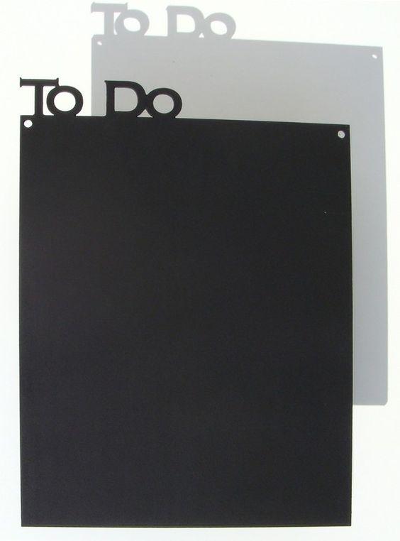 The to do blackboard.