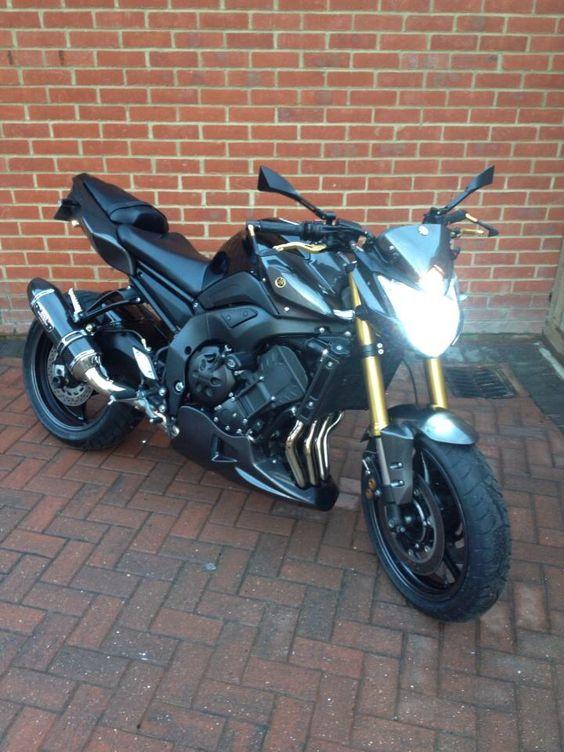 Yamaha FZ8 Black Gold Carbon Fibre My Bike