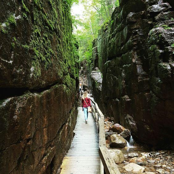 Franconia notch Flume gorge