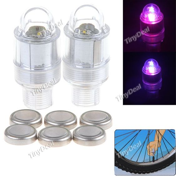 Flashing LED Light Motion Activated Valve Stem Lights for Bike Bicycle FLD-81808