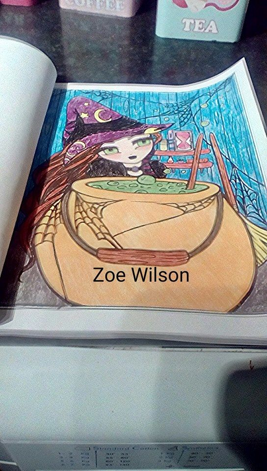 Witches Brew  Book - Enchanted Halloween Artist - Hannah Lynn Media - Prismacolor Premiers