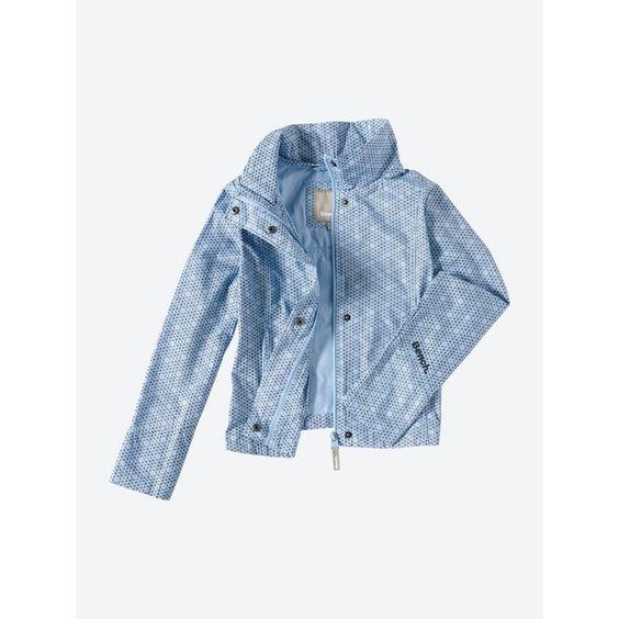 Leichte Jacke New Barbeque mit Allover-Print - POWDER BLUE