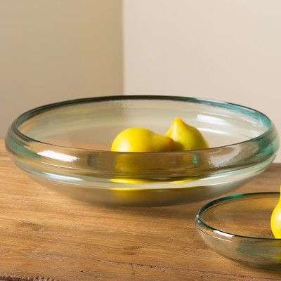 VivaTerra Cast Recycled Glass Serving Bowl