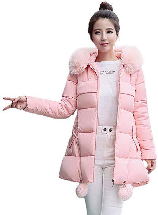 SEWORLD Winterjacke Steppjacke Frauen Winter Warmer Faux Fur