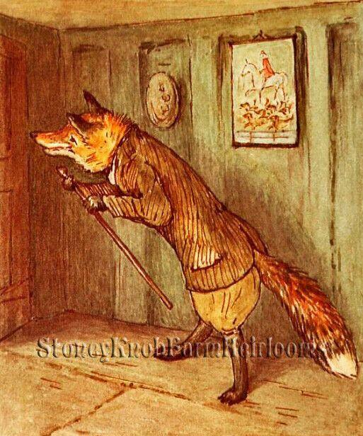 Beatrix Potter Mr Tod Fox Counted Cross Stitch Chart Pattern