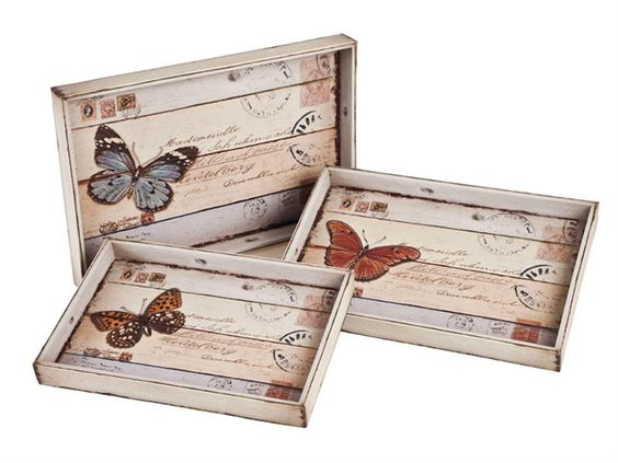 Bandeja vintage decoupage pinterest bandejas for Bandejas de madera decoradas